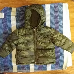 NWOT Camo Winter Jacket Boys